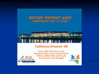 District Conference Presentation