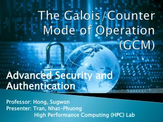 The Galois/Counter Mode of Operation (GCM)