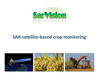 SAR satellite-based crop monitoring