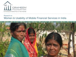 Research on Women & Usability of Mobile Financial Services in India
