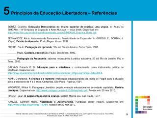 5  Princípios da Educação Libertadora – Referências