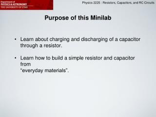 Purpose of this Minilab