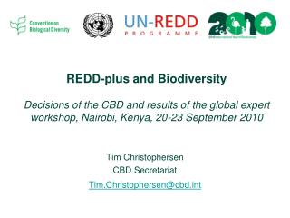 Tim Christophersen CBD Secretariat Tim.Christophersen@cbdt