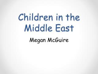 Children in the Middle East