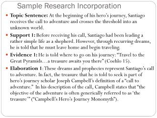 Sample Research Incorporation