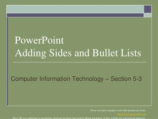 PowerPoint Adding Sides and Bullet Lists