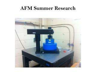 AFM Summer Research