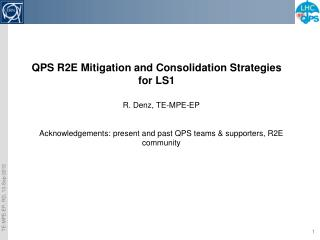 QPS  R2E Mitigation  and  Consolidation Strategies for LS1