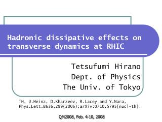 Hadronic dissipative effects on transverse dynamics at RHIC