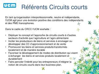 Référents Circuits courts