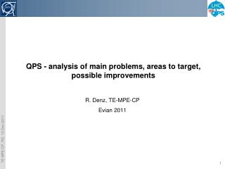 QPS - analysis of main problems, areas to target, possible improvements