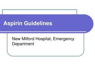 Aspirin Guidelines