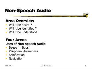 Non-Speech Audio