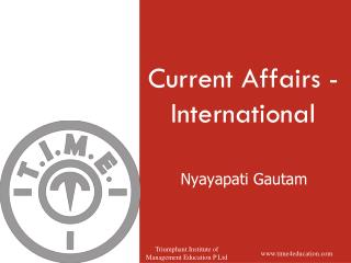 Current Affairs - International