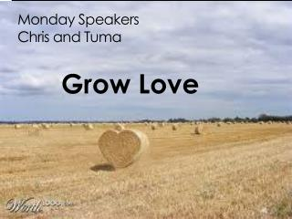 Monday Speakers Chris and Tuma