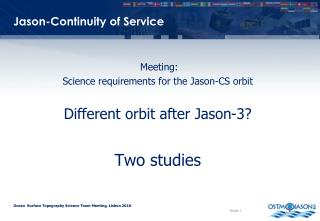 Jason-Continuity of Service