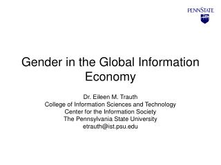 Gender in the Global Information Economy
