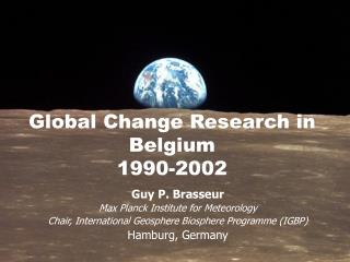 Global Change Research in Belgium 1990-2002