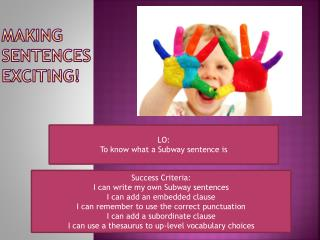 Making Sentences Exciting!