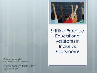 Shifting Practice: Educational Assistants in Inclusive Classrooms