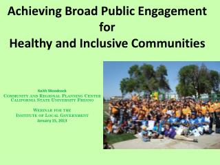 Achieving Broad Public Engagement for Healthy and Inclusive Communities