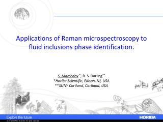 Applications of Raman  microspectroscopy  to fluid inclusions  phase identification .