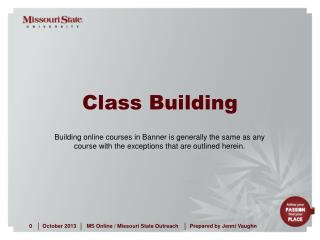 Class Building