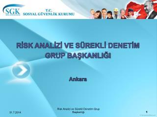 RİSK  ANALİZİ VE  SÜREKLİ DENETİM GRUP BAŞKANLIĞI Ankara