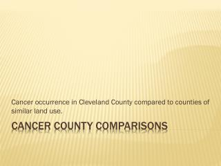 Cancer County Comparisons