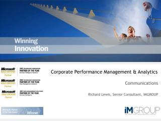 Corporate Performance Management & Analytics