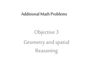 Additional  Math Problems