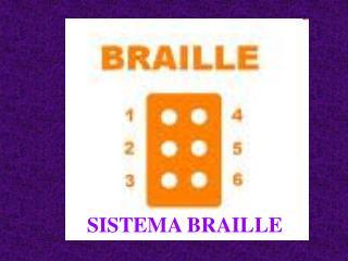 SISTEMA BRAILLE