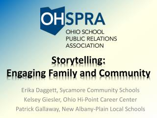Storytelling: Engaging Family and Community
