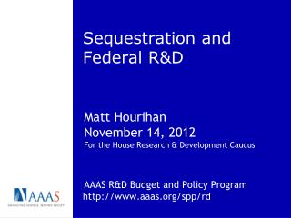 Sequestration and Federal R&D
