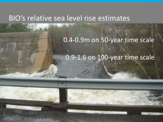 BIO's  relative sea level rise estimates