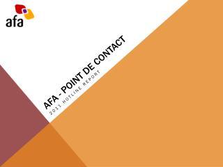 AFA - POINT DE CONTACT