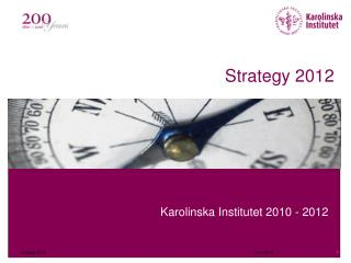 Strategy 2012