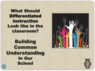 What Should Differentiated instruction Look like in the classroom? Building  Common  Understanding