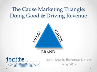 The Cause Marketing Triangle:  Doing  Good & Driving Revenue