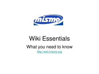 Wiki Essentials