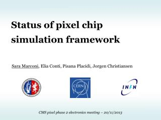 Status of  pixel  chip simulation framework