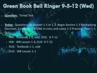Green Book  Bell  Ringer  9-5-12 (Wed)