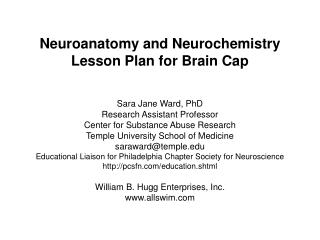 Neuroanatomy and Neurochemistry Lesson Plan for Brain Cap