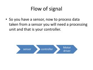 Flow of signal