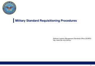 Military Standard Requisitioning Procedures
