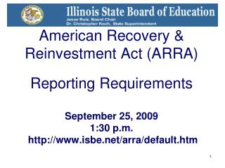 Funding and Disbursement Services Tim Imler Division Administrator (217-782-5256)