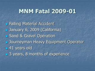 MNM Fatal 2009-01