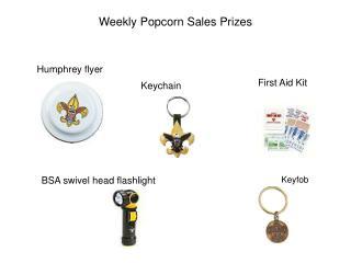 Weekly Popcorn Sales Prizes