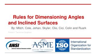 Rules for Dimensioning Angles and Inclined Surfaces