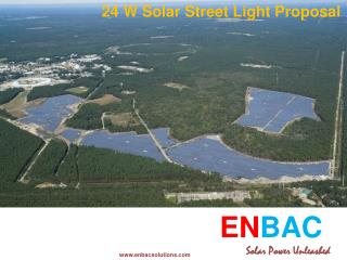 24 W Solar Street Light Proposal